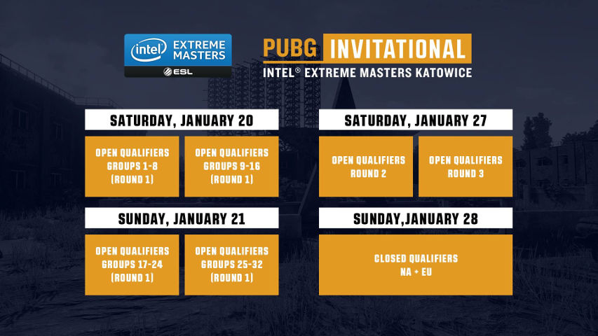 The dates and format of the Open & Closed Qualifiers