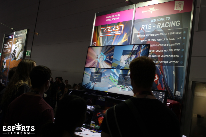 Photo of the floor at PAX Australia with 4-player split-screen