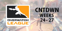 Overwatch Tier Rankings: Overwatch League Countdown (Weeks 24-27)