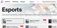 Twitch introduce an Esports Directory